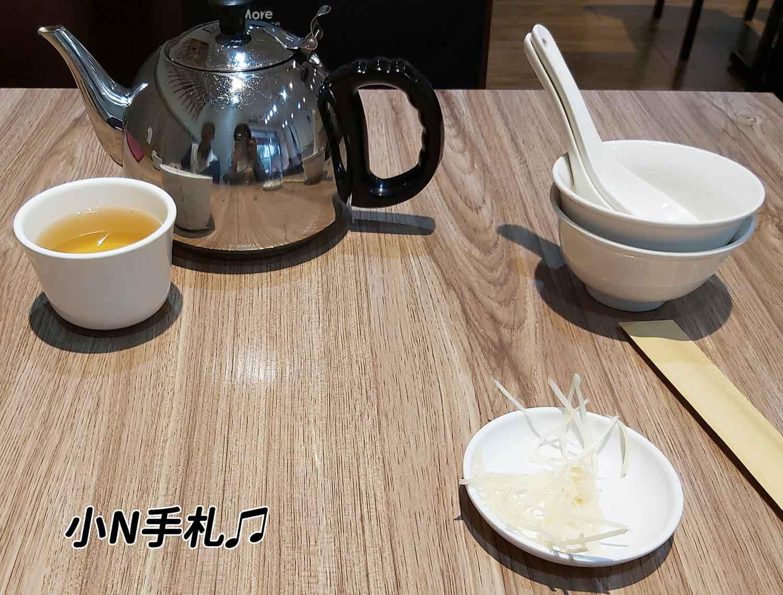 一鋒杭麵食館 茶壺碗筷 免費薑絲