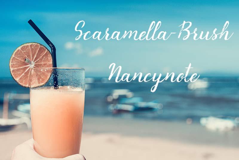免費可商用英文字體free font Scaramella-Brush