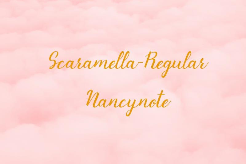 免費可商用英文字體free font Scaramella