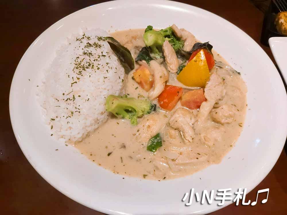 貝果貝果之東西廚房 泰式綠咖哩雞肉燴飯