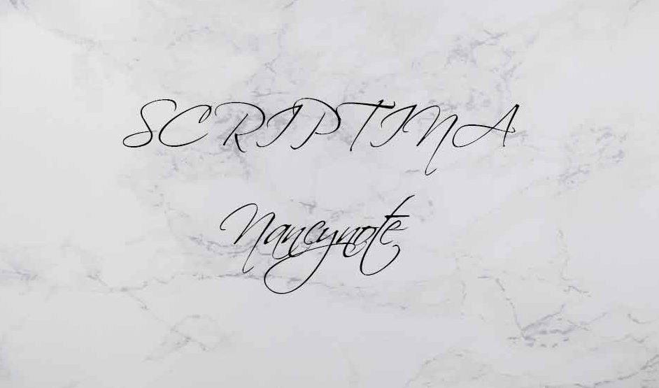 免費可商用英文字體free font SCRIPTINA