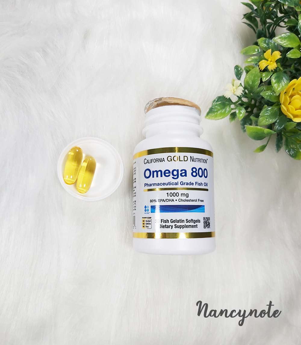 California Gold Nutrition, 歐米伽 800 醫級魚油